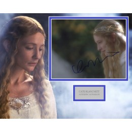 CATE BLANCHETT SIGNED LORD OF THE RINGS PHOTO MOUNT