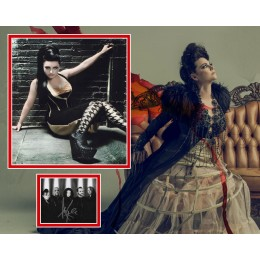 AMY LEE SIGNED SEXY EVANESCENCE PHOTO MOUNT (1)