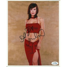 ALYSSA MILANO SIGNED SEXY 10X8 PHOTO (4)