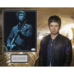 NOEL GALLAGHER SIGNED OASIS PHOTO MOUNT ALSO ACOA CERTIFIED