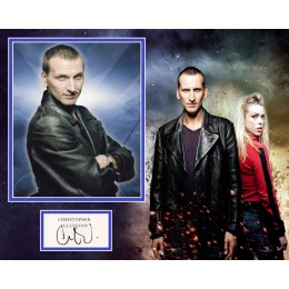 CHRISTOPHER ECCLESTON SIGNED DOCTOR WHO PHOTO MOUNT  (1)