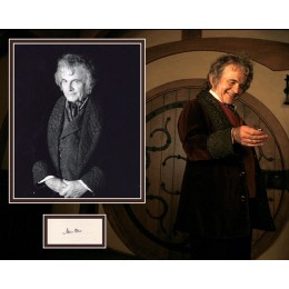 IAN HOLM SIGNED LORD OF THE RINGS PHOTO MOUNT UACC REG 242 (2)