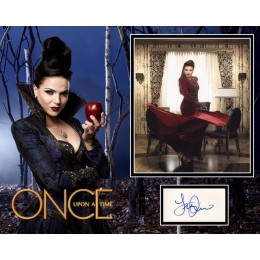 LANA PARRILLA SIGNED ONCE UPON A TIME PHOTO MOUNT UACC REG 242