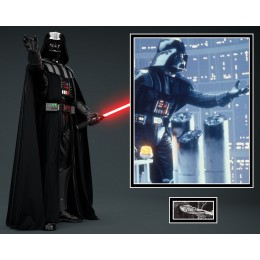 DAVE PROWSE SIGNED STAR WARS PHOTO MOUNT  (2) ACOA