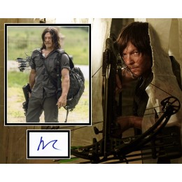NORMAN REEDUS SIGNED THE WALKING DEAD PHOTO MOUNT