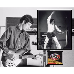 PETE TOWNSHEND SIGNED THE WHO PHOTO MOUNT