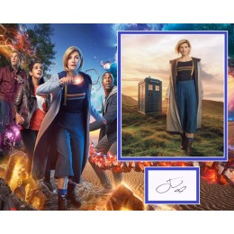 JODIE WHITTAKER SIGNED DOCTOR WHO PHOTO MOUNT UACC REG 242