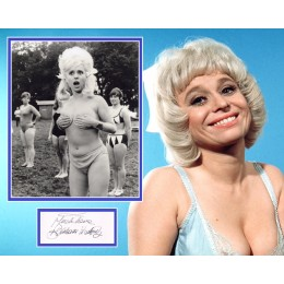 BARBARA WINDSOR SIGNED SEXY CARRY ON PHOTO MOUNT  (1)